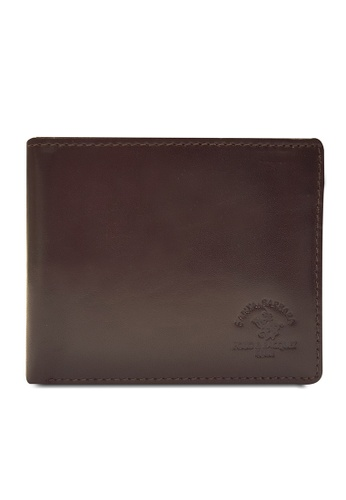 Santa Barbara Polo & Racquet brown Santa Barbara Luxurious Leather Bifold Wallet SA678AC0GQ99SG_1