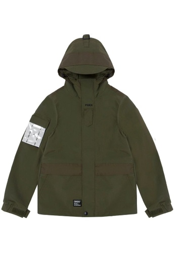 Fingercroxx green Graphic patch utility jacket 6EB9EAAD29C6DFGS_1