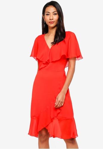 5aa2cba555 Shop WAREHOUSE Chiffon Ruffle Dress Online on ZALORA Philippines