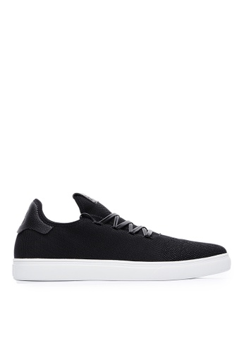 Life8 black Sport Lightweight Material Stitching Sneakers-09881-Black 58A2CSH5CD5CAEGS_1