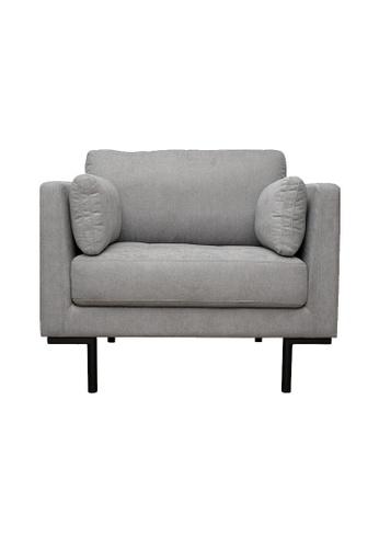 Joy Design Studio Herlene Armchair Tufted Sofa in Light Grey Color 5BE12HL3464558GS_1