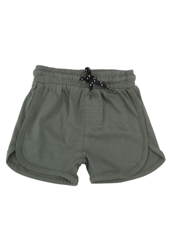 FOX Kids & Baby green Plain Knit Shorts 6B377KA59E23BBGS_1