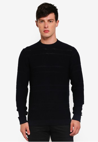 Selected Homme blue Alden Solid Crew Neck Sweater 36A47AA7A0497CGS_1