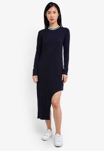 The Fifth Label navy Solo Long Sleeve Dress TH664AA0S3PHMY_1