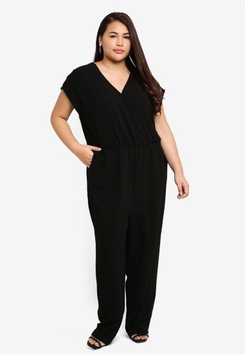 Only CARMAKOMA black Plus Size Cynara Jumpsuit A0003AAD0D1D4EGS_1