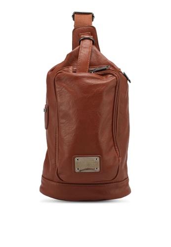High Cultured brown PU Leather Shoulder Bag HI002AC0SPDDMY_1