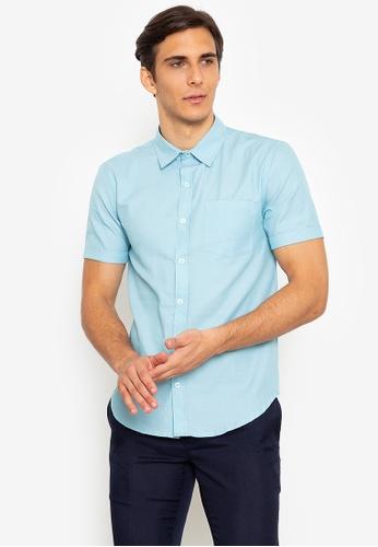 Zeb & Beileag green Jabes Oxford Cuffed Shirt C71CFAABB786A8GS_1