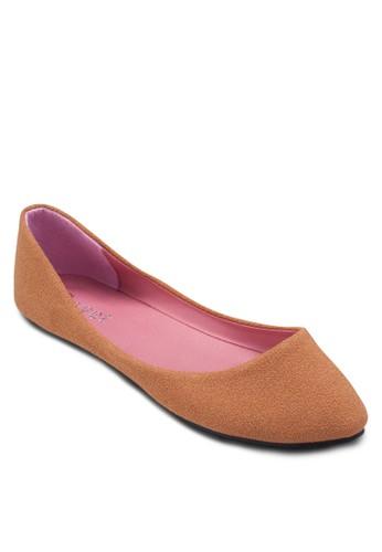 素色尖頭平底鞋, 女鞋zalora 台灣門市, 鞋