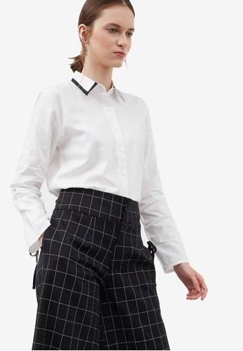 Berrybenka white Heather Bow Shirt 65151AAFD63E4FGS_1