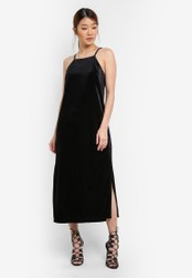 Something Borrowed black Cut In Column Midi Dress C4E46AABCF0932GS_1