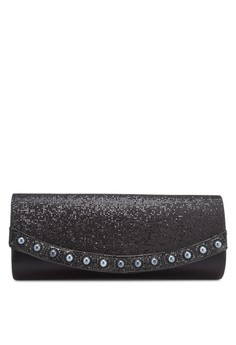 Unisa Dinner Clutch with Glittering Pearl & Crystal Embellishment
