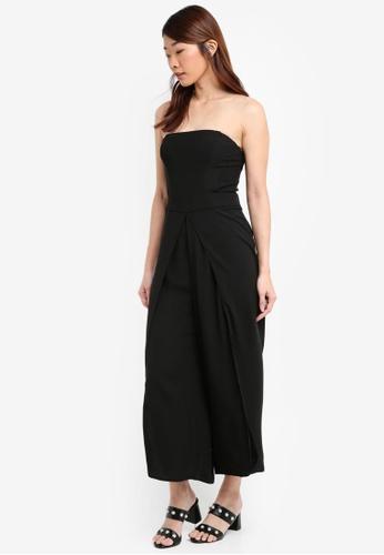 b31595deace Buy Miss Selfridge Black Split Leg Bandeau Jumpsuit Online