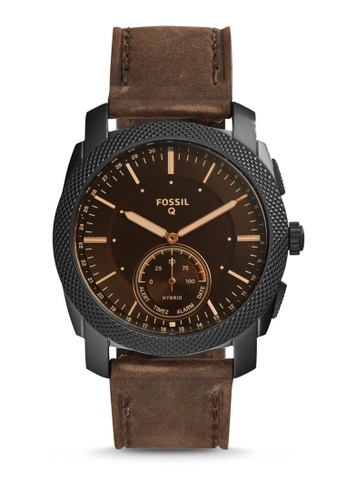 Fossil brown Fossil Q Machine Hybrid Smartwatch FTW1163 3D9EFACC98CD5EGS_1