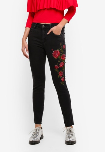 Cotton On blue Mid Rise Grazer Skinny Jeans 2AA9DAA7B559A7GS_1