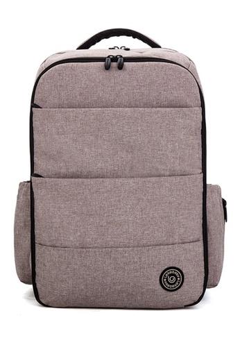 Jackbox grey Leke Baby Water Resistant Multi Function Large Capacity Diaper Mama Papa Bag Backpack 752 JA762AC0SXQNMY_1