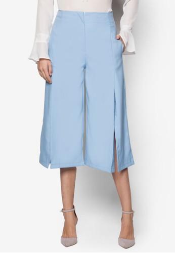 Kylie 前開衩寬esprit 鞋管褲, 服飾, 服飾