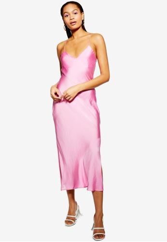 1bcf2ef17697 Buy TOPSHOP Satin Cowl Back Slip Dress Online on ZALORA Singapore