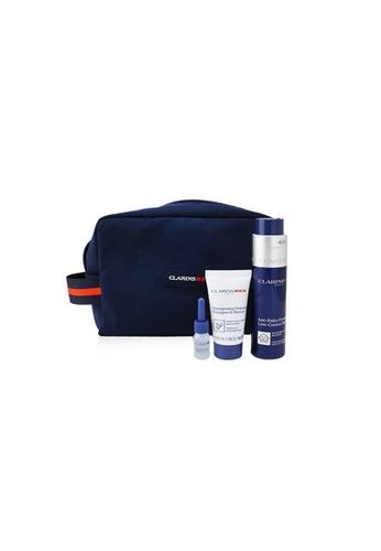 CLARINS CLARINS - Men Expert Firming Essentials Set: Line-Control Balm 50ml + Shampoo & Shower 30ml + Shave Ease oil 3ml 3pcs+1pouch 8FA64BE5507FF6GS_1