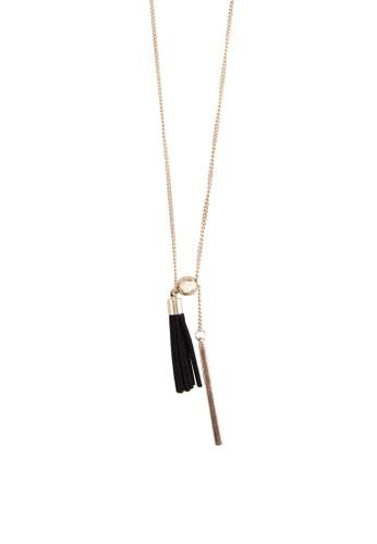 流蘇金屬條墜飾項鍊, 飾esprit hk品配件, 項鍊
