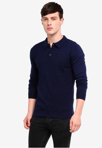 Jack & Jones navy Roberto Knit Polo Shirt E1A60AA0C19BD6GS_1