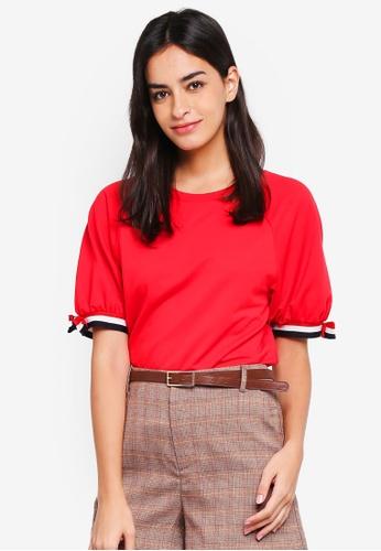 ESPRIT red Short Sleeve Sweatshirt FDDFAAA8BBC1E2GS_1