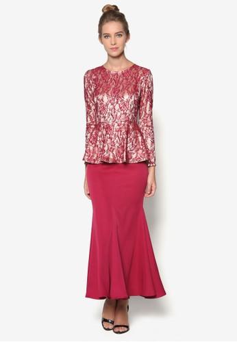 Mustikaesprit hk 蕾絲傘擺一件式長裙, 服飾, 女性服飾