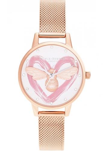 Olivia Burton gold Olivia Burton You Have My Heart ROSE GOLD Women's Watch (OB16FB01) 62AE2AC87E19F4GS_1