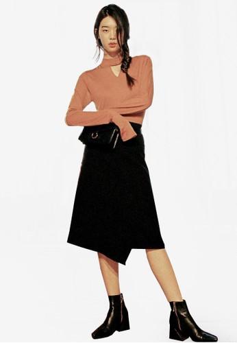 Among&esprit outlet 台中#039;s交叉裙子, 服飾, 及膝裙