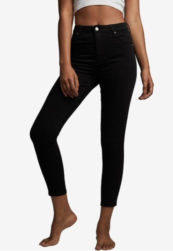 Cotton On black High Rise Cropped Skinny Jeans 17765AAC326566GS_1
