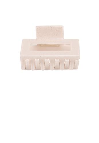 Glamorousky white Fashion Simple White Geometric Hair Claw AF4D6AC05D4B7DGS_1