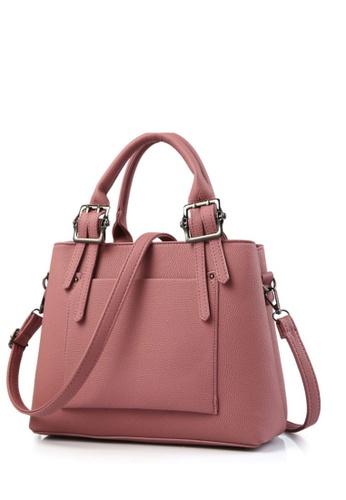 TCWK pink TCWK Korea Style Pink Ladies Handbag TC258AC0SAO3MY_1