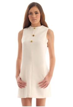 Woven Fabric Shift Dress