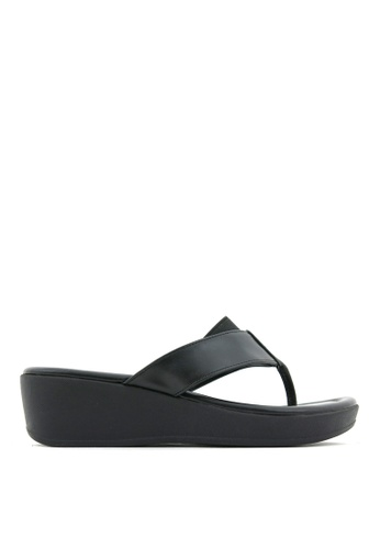 Carlo Rino black Carlo Rino 33370-C025-08 Slip-on Flat Sandals 58FEASH0269233GS_1