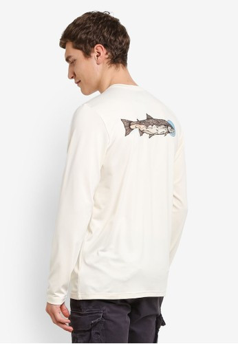 Patagonia white and multi Graphic Tech Fish Tee PA549AA0RQBNMY_1