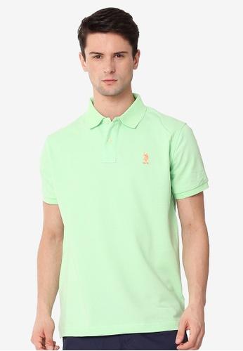 U.S. Polo Assn. green Men's Classic Fit Sport Polo Shirt DE4AEAAE9968CCGS_1