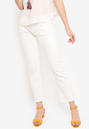 Free People white Austen Straight Leg Jeans CEB7EAA46DD182GS_1