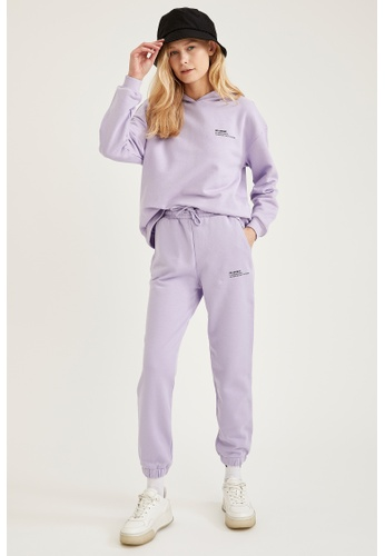 DeFacto purple Woman Athleisure Knitted Trouser 7ABCCAA0FD393BGS_1
