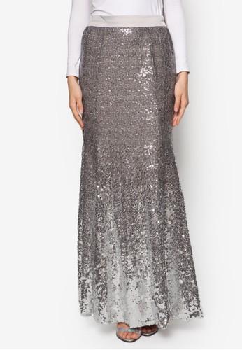 Gradient Sequin Skirt, 服esprit招聘飾, 服飾