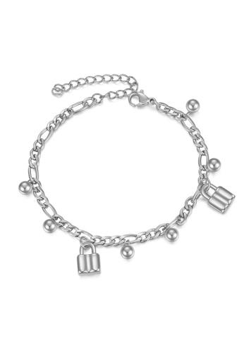 CELOVIS silver CELOVIS - Commitment Padlock Pendant Bracelet in Silver E8475AC49F0DDDGS_1