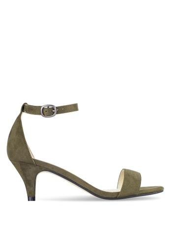 ZALORA green Kitten Heeled Sandals FA063SH4469603GS_1
