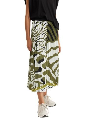 Parfois green Animal Print Skirt 4EEC3AAD98DF5EGS_1
