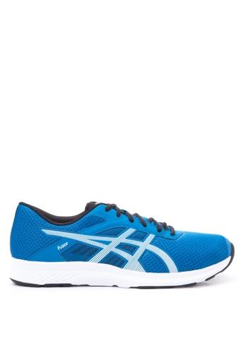 Asics black and white and blue Fuzor Running Shoes AS445SH24VSPPH_1