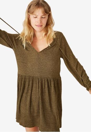 Cotton On green Larissa Babydoll Mini Dress 7DDACAA3D51568GS_1