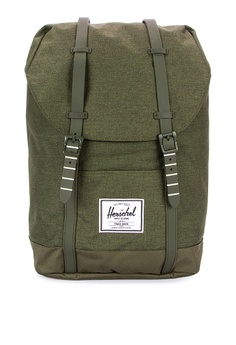 0f3585f9476 Herschel green Retreat Backpack 641BBAC2FEDFC0GS 1