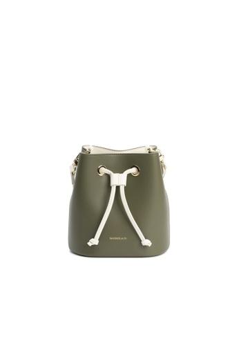 Maverick & Co. green Maverick & Co. Eloise Mini Bucket Crossbody Vegan Leather Bag for Women - Army Green 7E28FAC99CE774GS_1