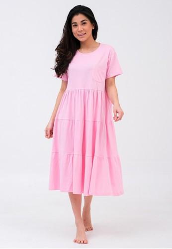 Lune Rever pink CHLOE DRESS PINK 8CD57AA3DBB73DGS_1