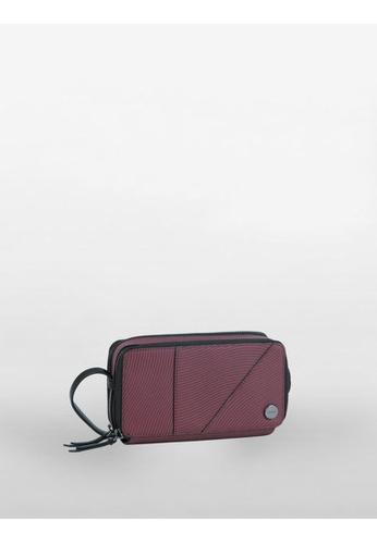 Calvin Klein red Mixed Texture Wave Double Zip Around Wallet 56590AC2413002GS_1