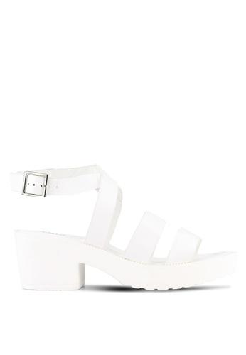 Rubi white Ascot Low Buckle Heels RU506SH0RZJYMY_1