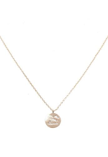 Orelia London gold Leo Constellation Necklace OR747AC0SC3AMY_1