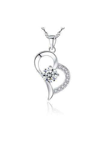 SUNRAIS silver Premium Silver S925 Silver Heart Necklace 75E89AC551F145GS_1